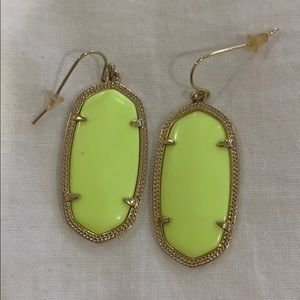 Kendra Scott Elle neon yellow earrings